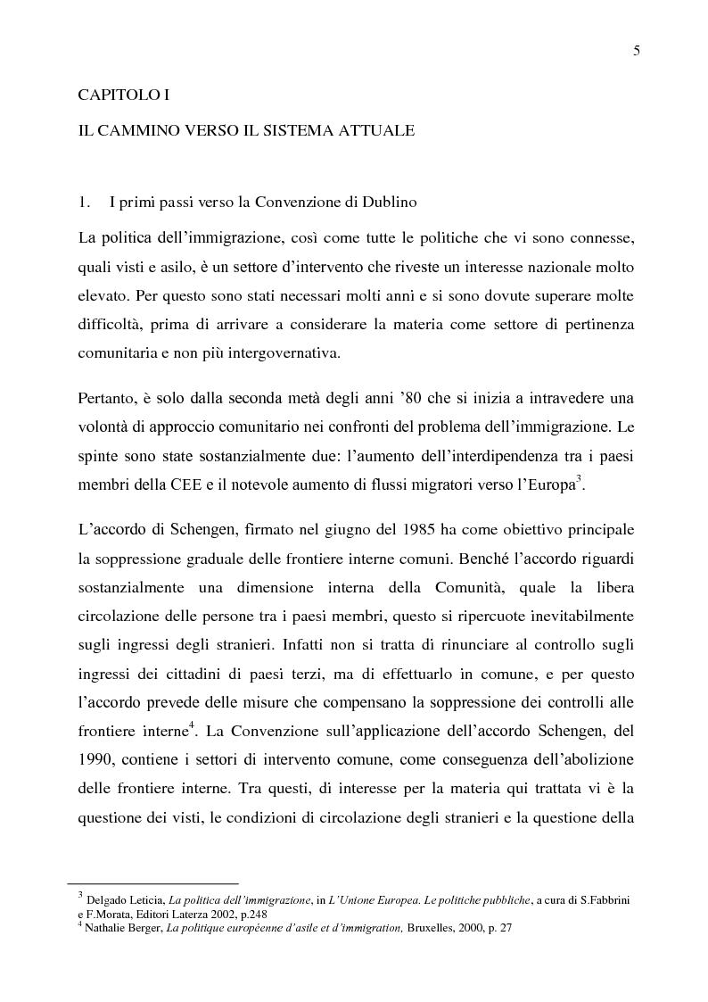 Anteprima della tesi: Il diritto d'asilo nell'Unione Europea e il regolamento 343/2003, Pagina 1