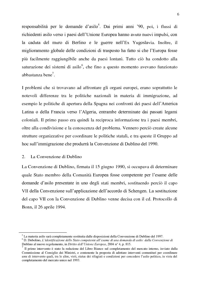Anteprima della tesi: Il diritto d'asilo nell'Unione Europea e il regolamento 343/2003, Pagina 2