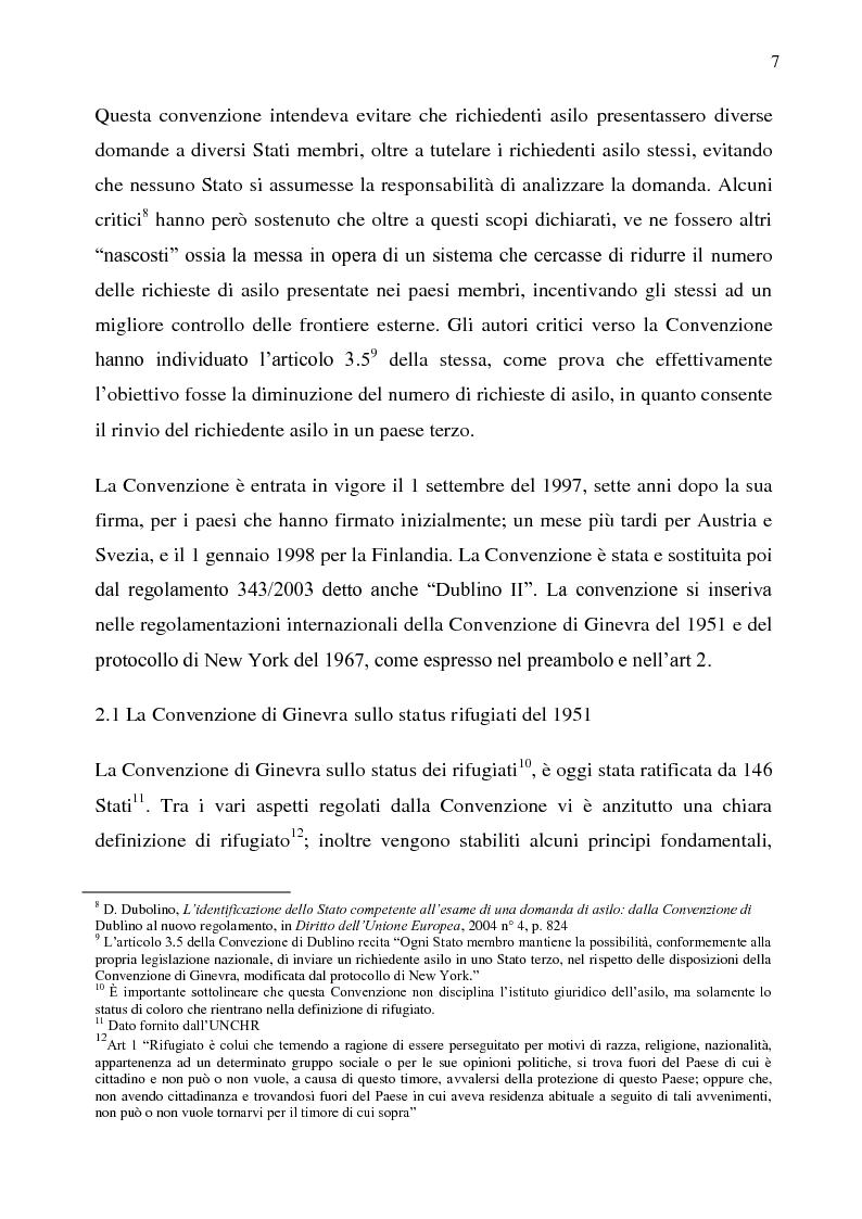Anteprima della tesi: Il diritto d'asilo nell'Unione Europea e il regolamento 343/2003, Pagina 3