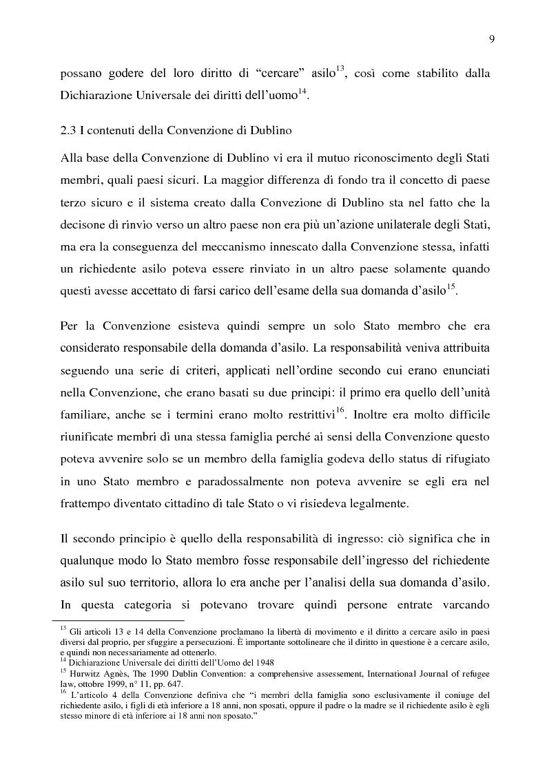 Anteprima della tesi: Il diritto d'asilo nell'Unione Europea e il regolamento 343/2003, Pagina 5