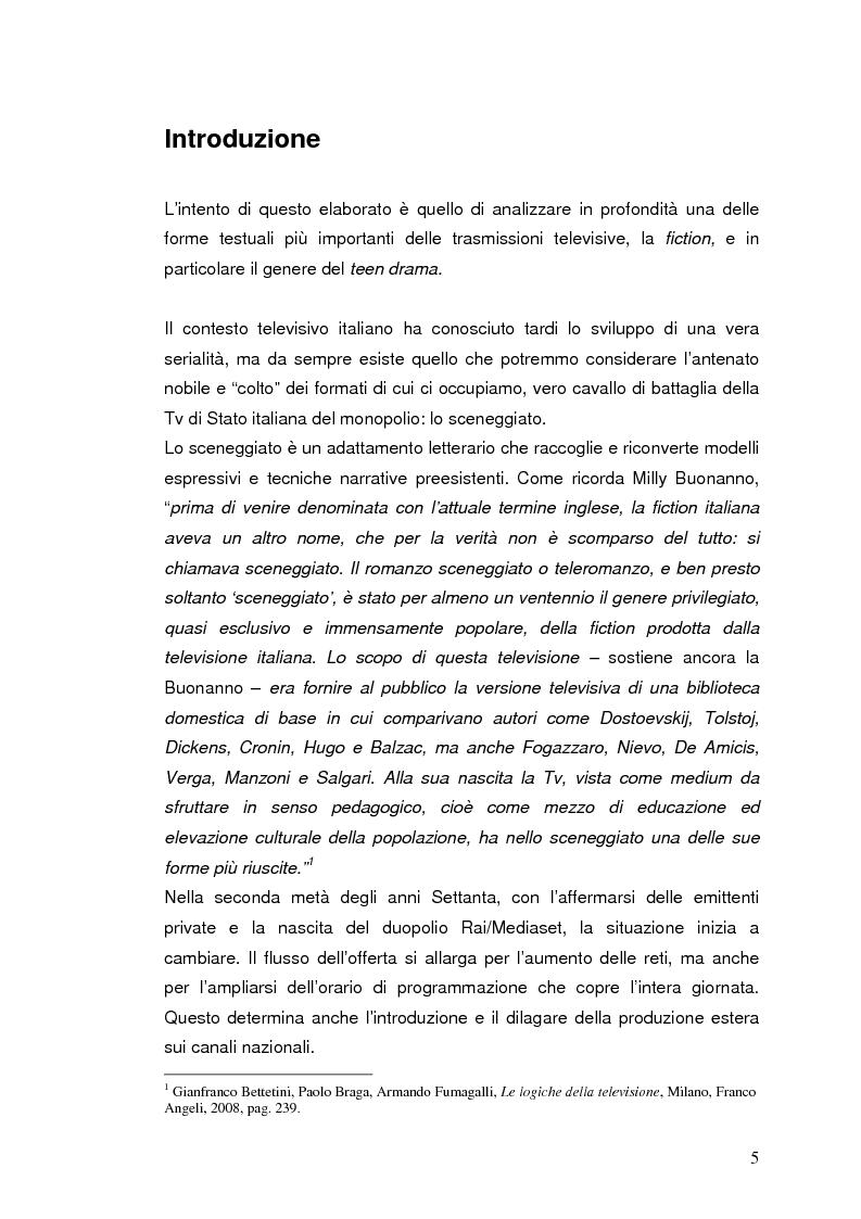 """Anteprima della tesi: """"I liceali"""" e """"Gossip Girl"""": il teen drama e le sue caratteristiche drammaturgiche ed etiche, Pagina 1"""
