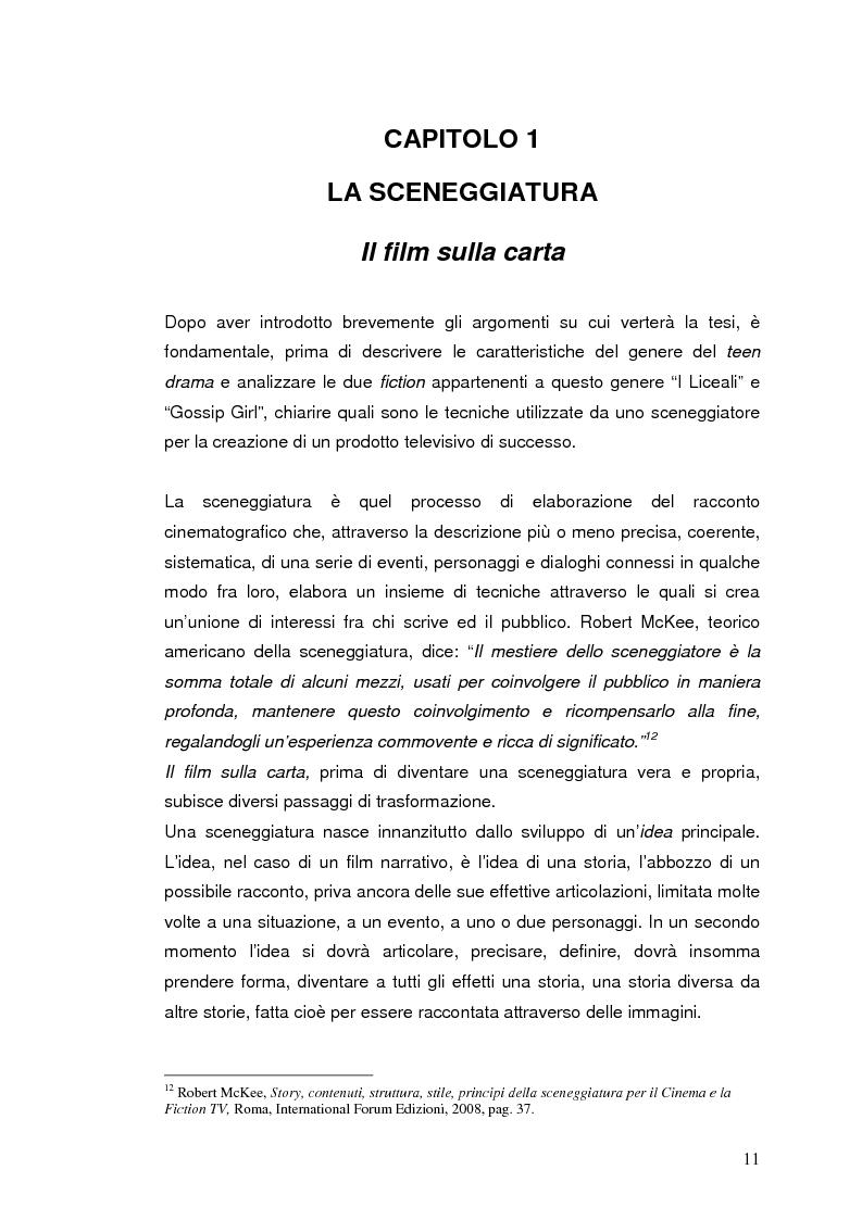 """Anteprima della tesi: """"I liceali"""" e """"Gossip Girl"""": il teen drama e le sue caratteristiche drammaturgiche ed etiche, Pagina 7"""