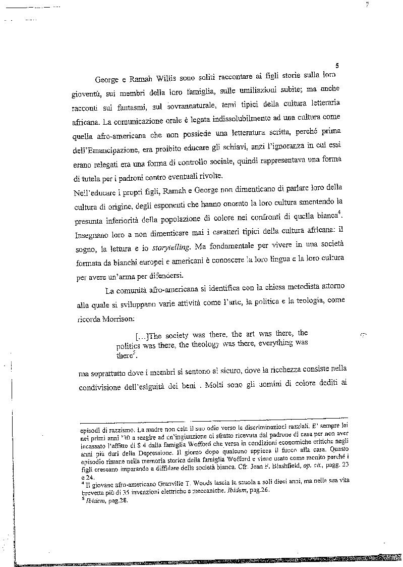 Anteprima della tesi: La musica nelle parole: il Jazz di Toni Morrison, Pagina 4