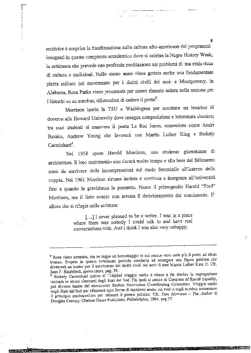 Anteprima della tesi: La musica nelle parole: il Jazz di Toni Morrison, Pagina 7