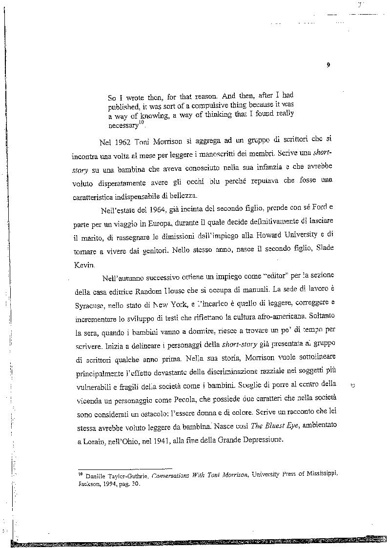 Anteprima della tesi: La musica nelle parole: il Jazz di Toni Morrison, Pagina 8