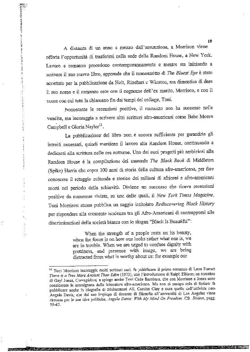 Anteprima della tesi: La musica nelle parole: il Jazz di Toni Morrison, Pagina 9