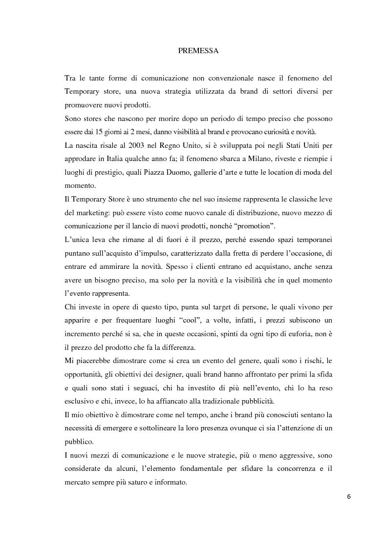 Anteprima della tesi: Il temporary store come tecnica di retail marketing, Pagina 1