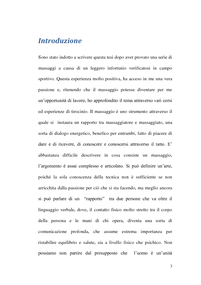 Anteprima della tesi: Un valido alleato in campo motorio: il massaggiatore sportivo, Pagina 1