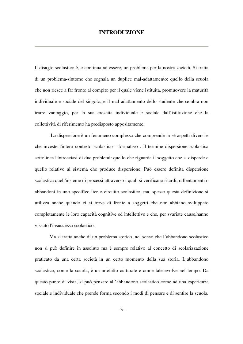 Anteprima della tesi: Il disagio nel contesto scolastico: un'indagine esplorativa in una scuola secondaria di primo grado, Pagina 1