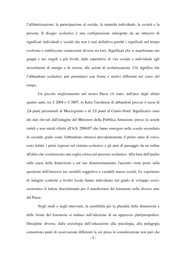 Anteprima della tesi: Il disagio nel contesto scolastico: un'indagine esplorativa in una scuola secondaria di primo grado, Pagina 2