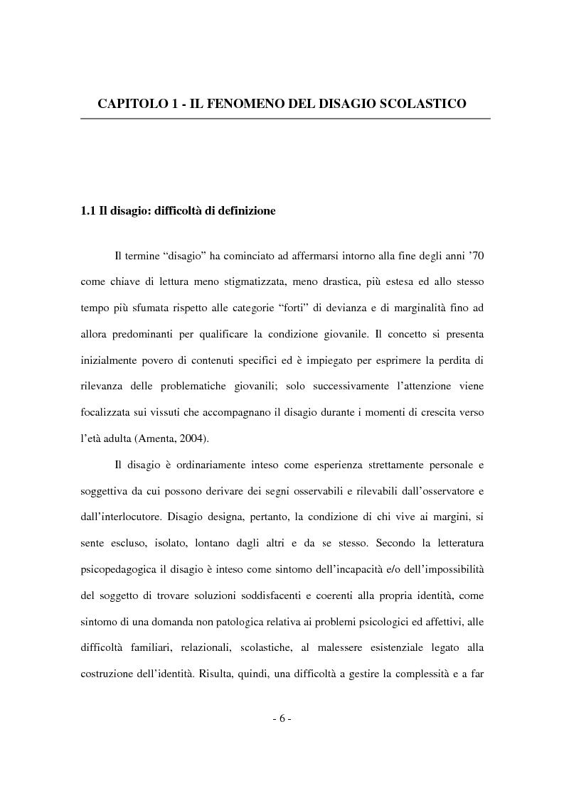 Anteprima della tesi: Il disagio nel contesto scolastico: un'indagine esplorativa in una scuola secondaria di primo grado, Pagina 4