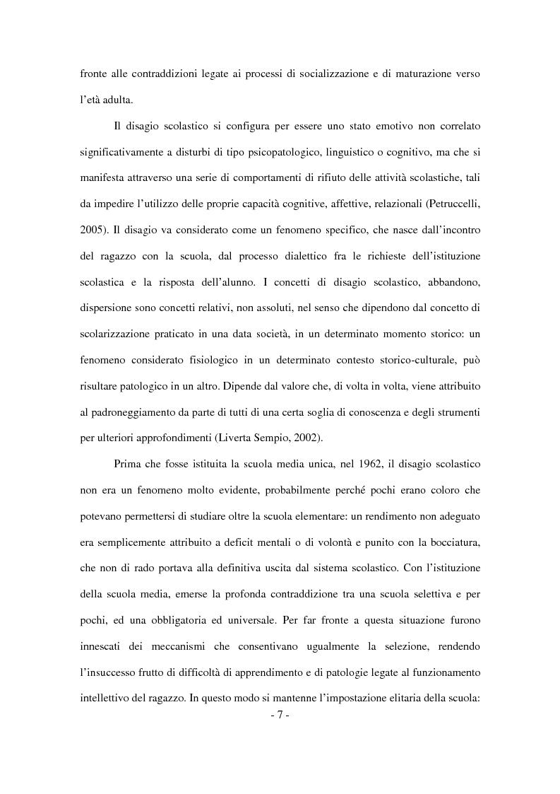 Anteprima della tesi: Il disagio nel contesto scolastico: un'indagine esplorativa in una scuola secondaria di primo grado, Pagina 5