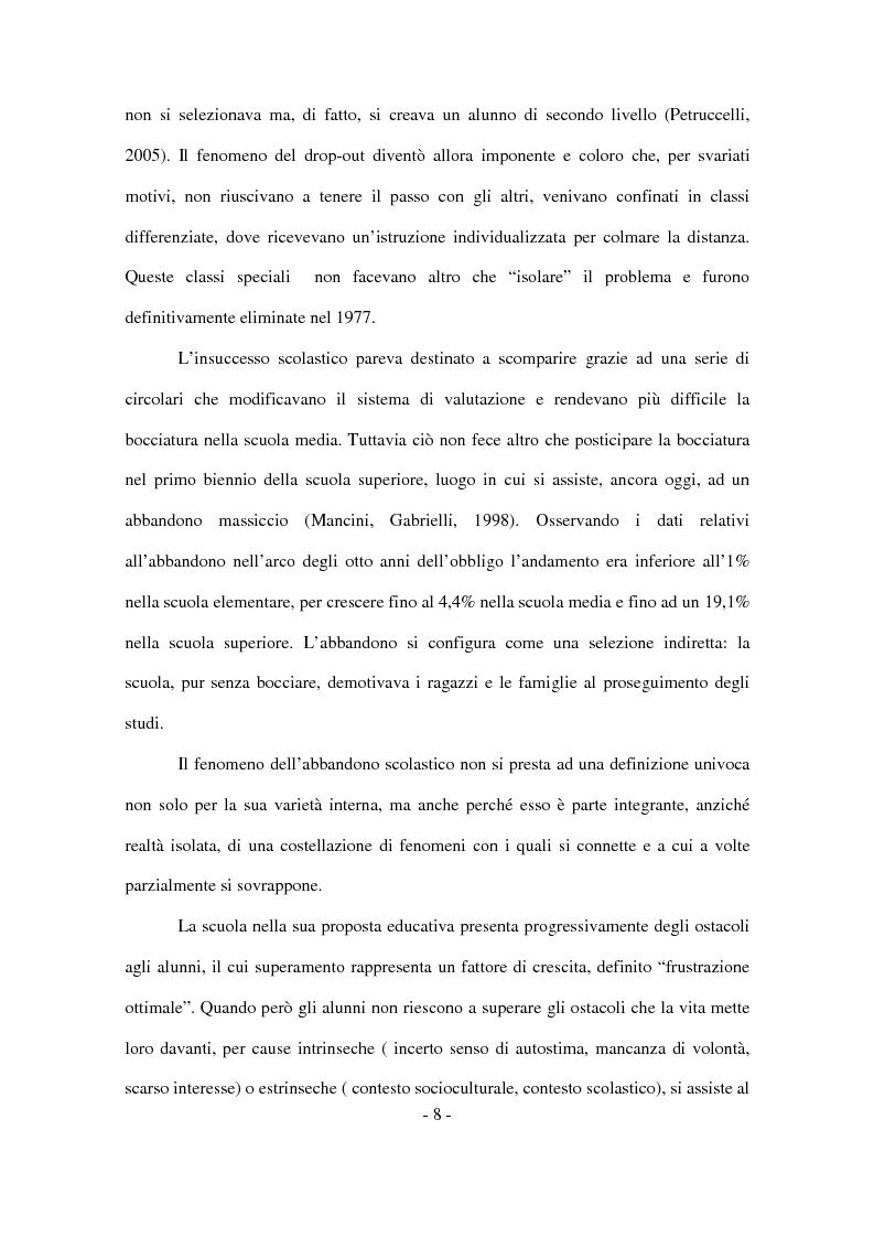Anteprima della tesi: Il disagio nel contesto scolastico: un'indagine esplorativa in una scuola secondaria di primo grado, Pagina 6