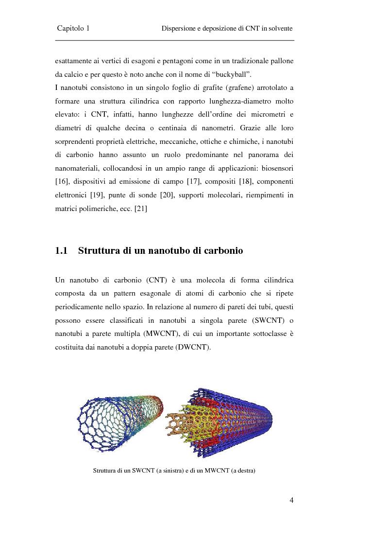 Anteprima della tesi: Film trasparenti nanostrutturati di nanotubi di carbonio su vetro come substrati per la crescita neuronale, Pagina 2