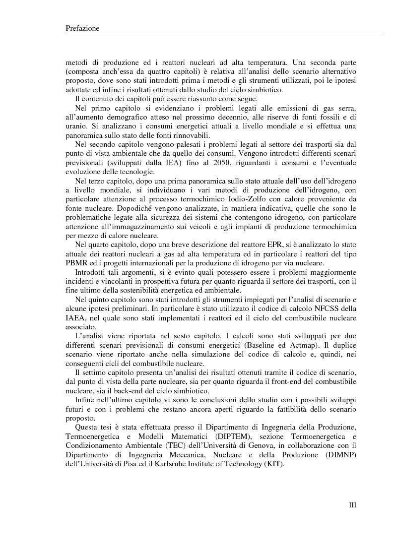 Anteprima della tesi: La produzione di idrogeno per via nucleare: proposta di un possibile scenario energetico per il settore dei trasporti, Pagina 2