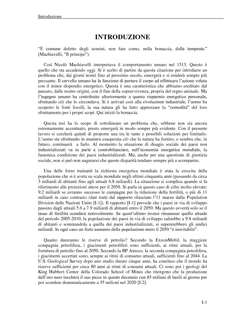 Anteprima della tesi: La produzione di idrogeno per via nucleare: proposta di un possibile scenario energetico per il settore dei trasporti, Pagina 3