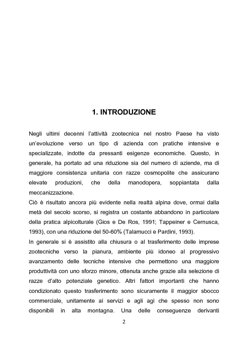 Anteprima della tesi: Monticazione e fauna selvatica: problematiche e proposte gestionali. Analisi di un'area campione nell'Alta Valsesia (VC)., Pagina 1