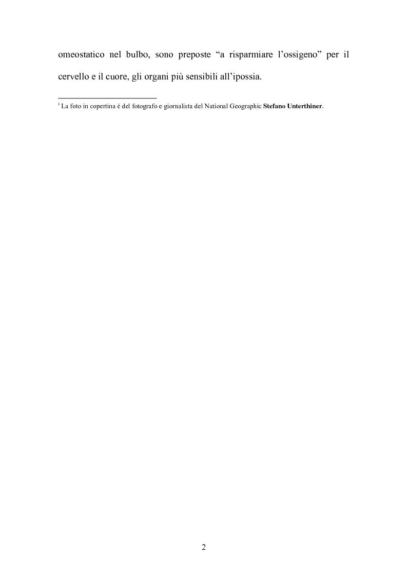Anteprima della tesi: Le risposte adattative all'ipossia: dagli animali marini all'uomo, Pagina 2
