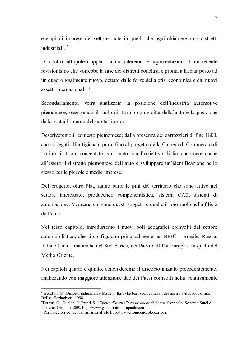 Anteprima della tesi: Ricerche e studi sull'evoluzione generale del settore automobilistico in un insieme globale, Pagina 3