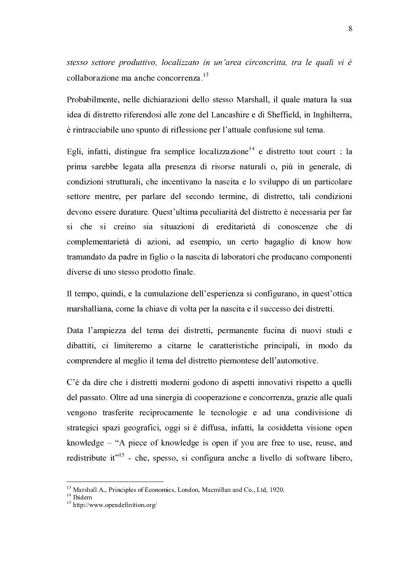 Anteprima della tesi: Ricerche e studi sull'evoluzione generale del settore automobilistico in un insieme globale, Pagina 8