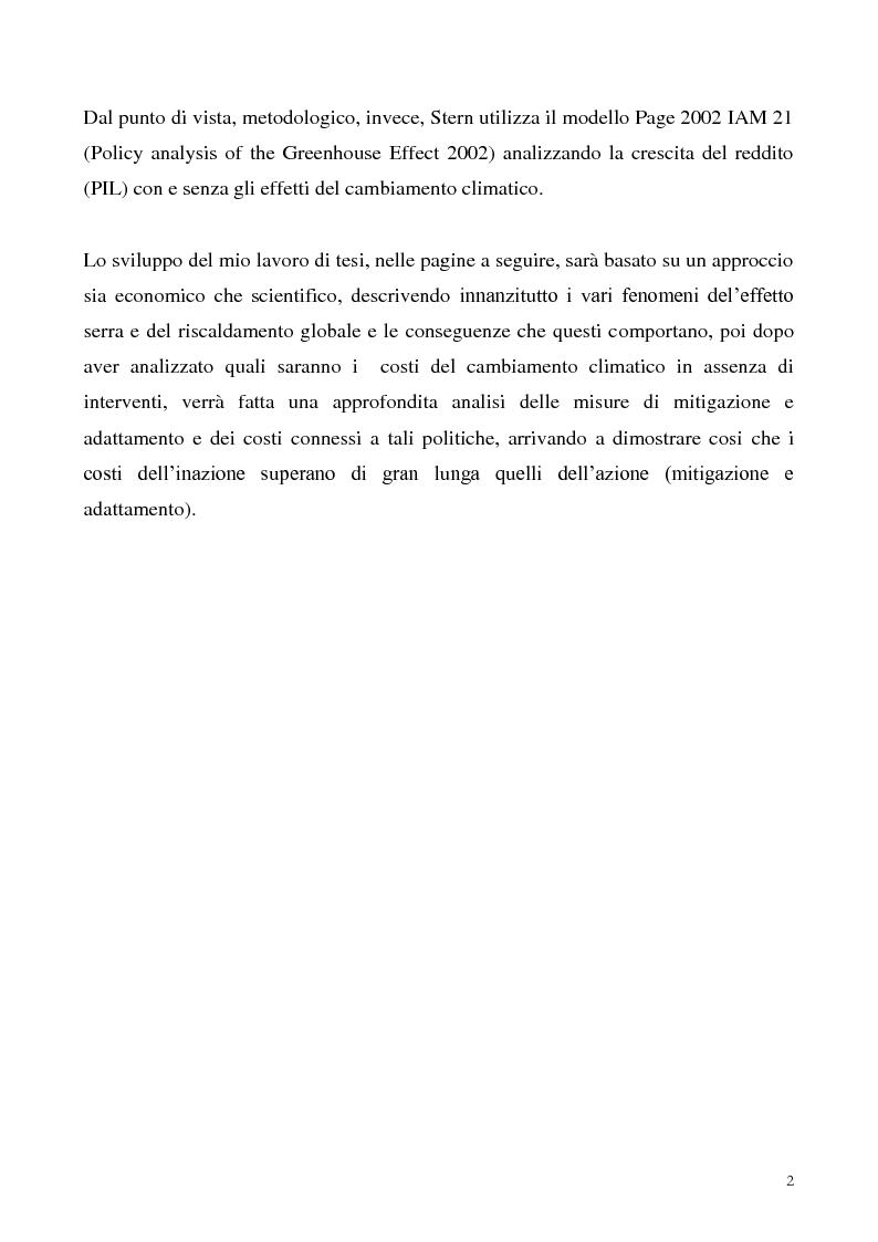 Anteprima della tesi: Gli effetti economici dei cambiamenti climatici: il rapporto Stern, Pagina 2