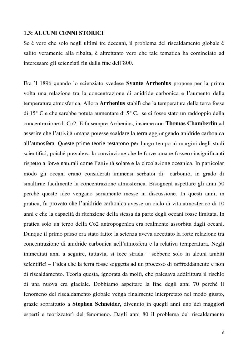 Anteprima della tesi: Gli effetti economici dei cambiamenti climatici: il rapporto Stern, Pagina 6