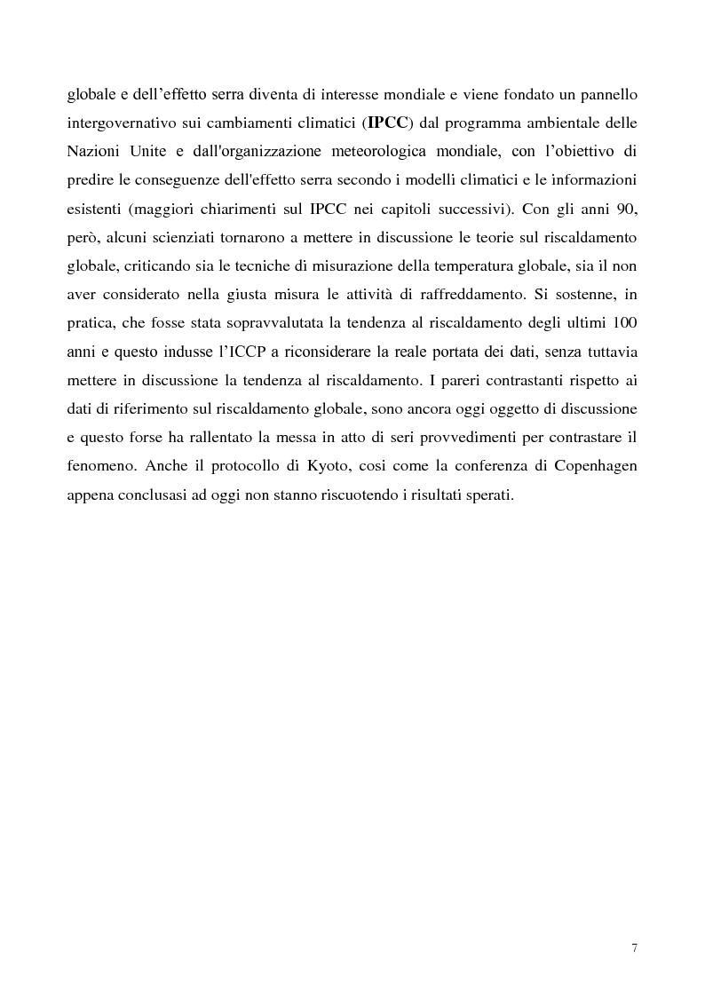 Anteprima della tesi: Gli effetti economici dei cambiamenti climatici: il rapporto Stern, Pagina 7