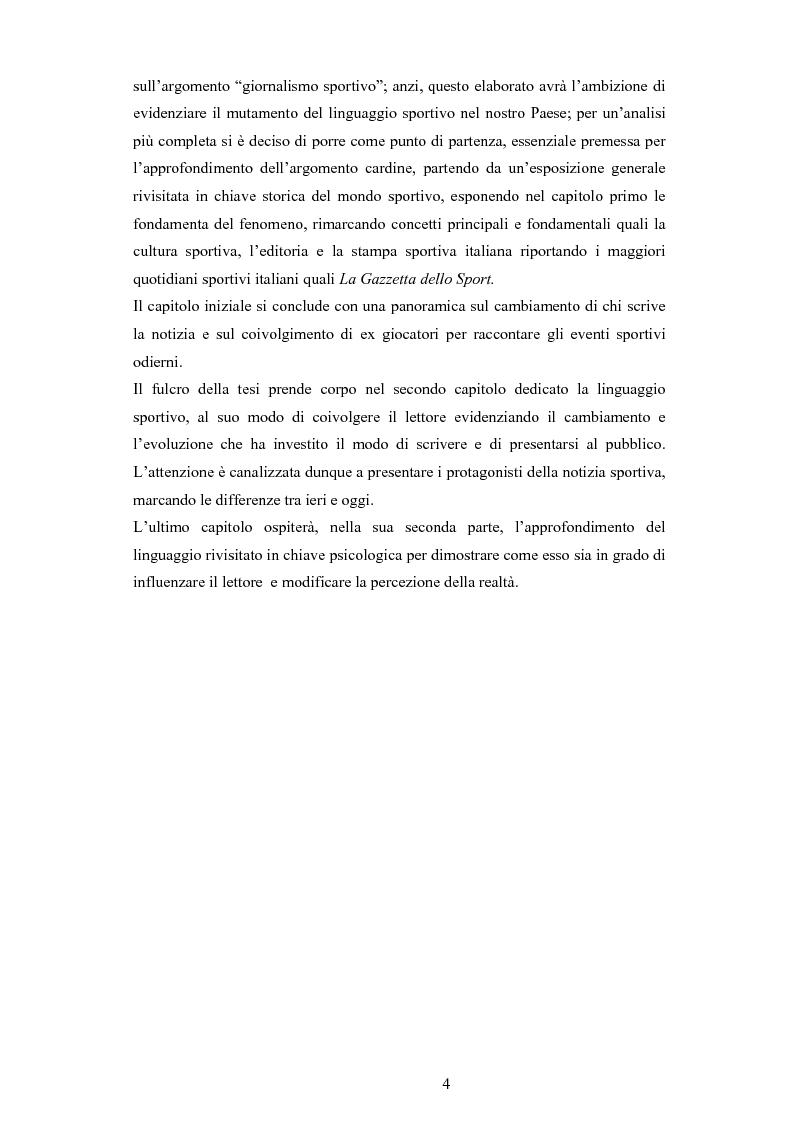 Anteprima della tesi: L'evoluzione del linguaggio giornalistico sportivo, Pagina 2