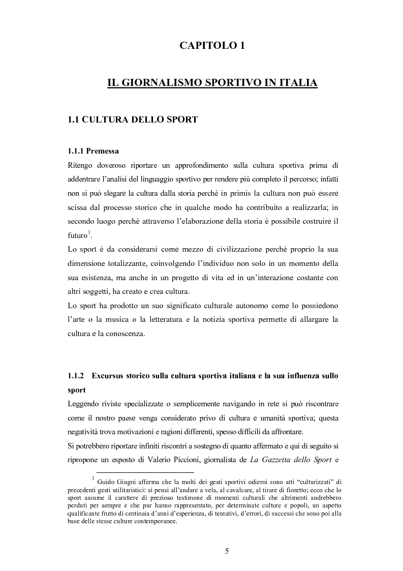 Anteprima della tesi: L'evoluzione del linguaggio giornalistico sportivo, Pagina 3
