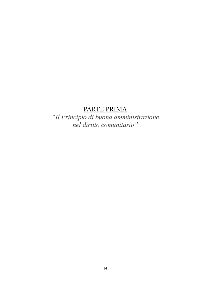 Anteprima della tesi: Il principio di buona amministrazione, Pagina 10