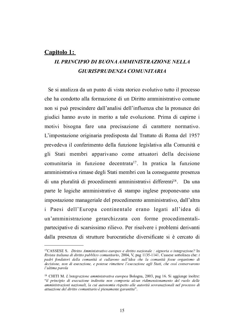 Anteprima della tesi: Il principio di buona amministrazione, Pagina 11
