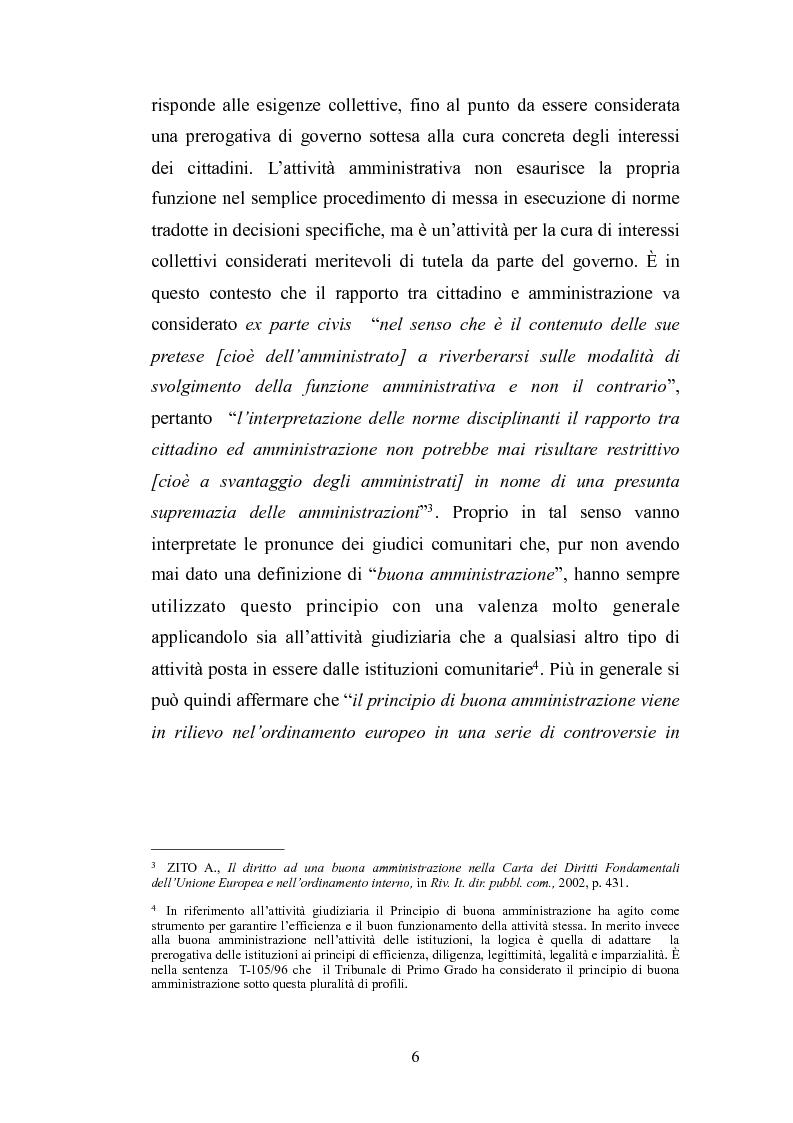 Anteprima della tesi: Il principio di buona amministrazione, Pagina 2