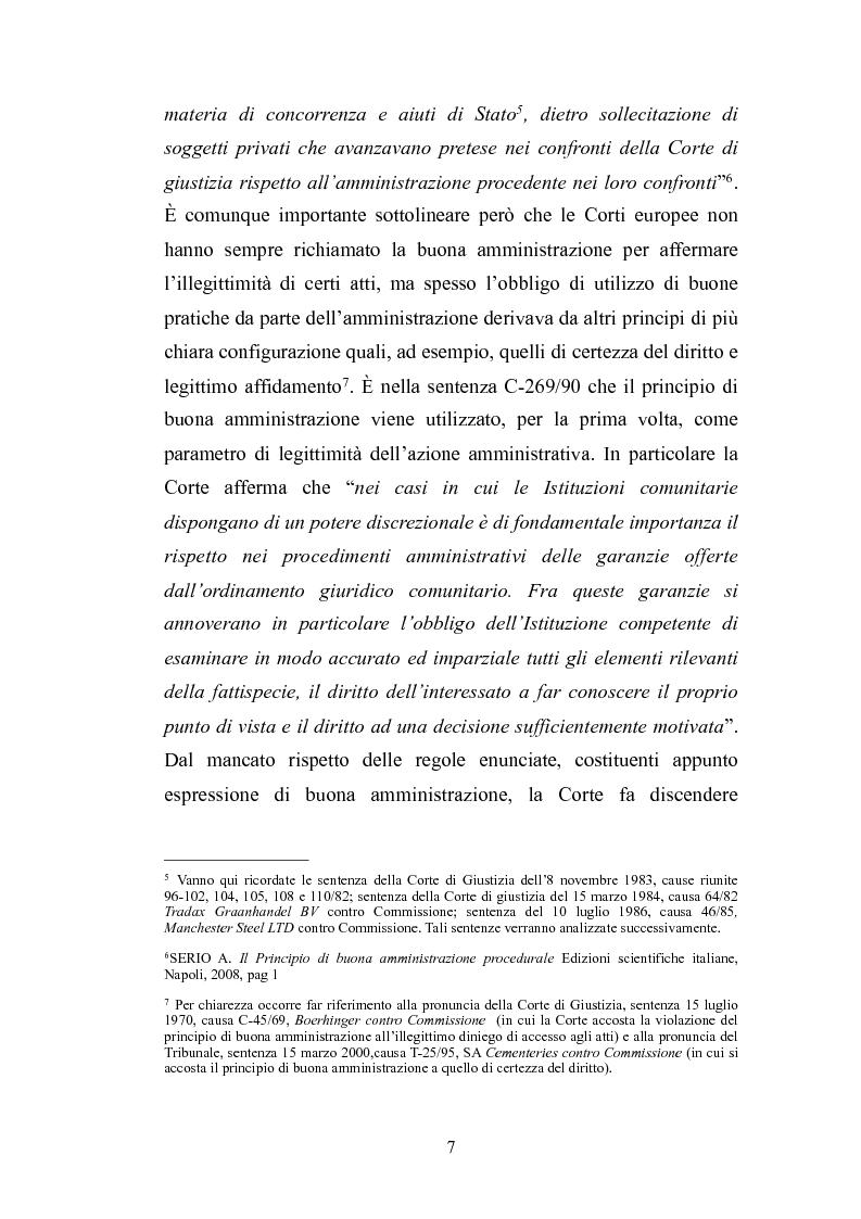 Anteprima della tesi: Il principio di buona amministrazione, Pagina 3