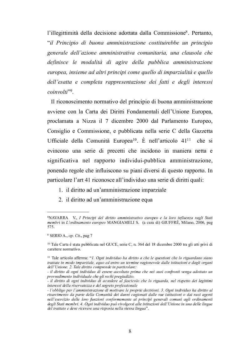 Anteprima della tesi: Il principio di buona amministrazione, Pagina 4