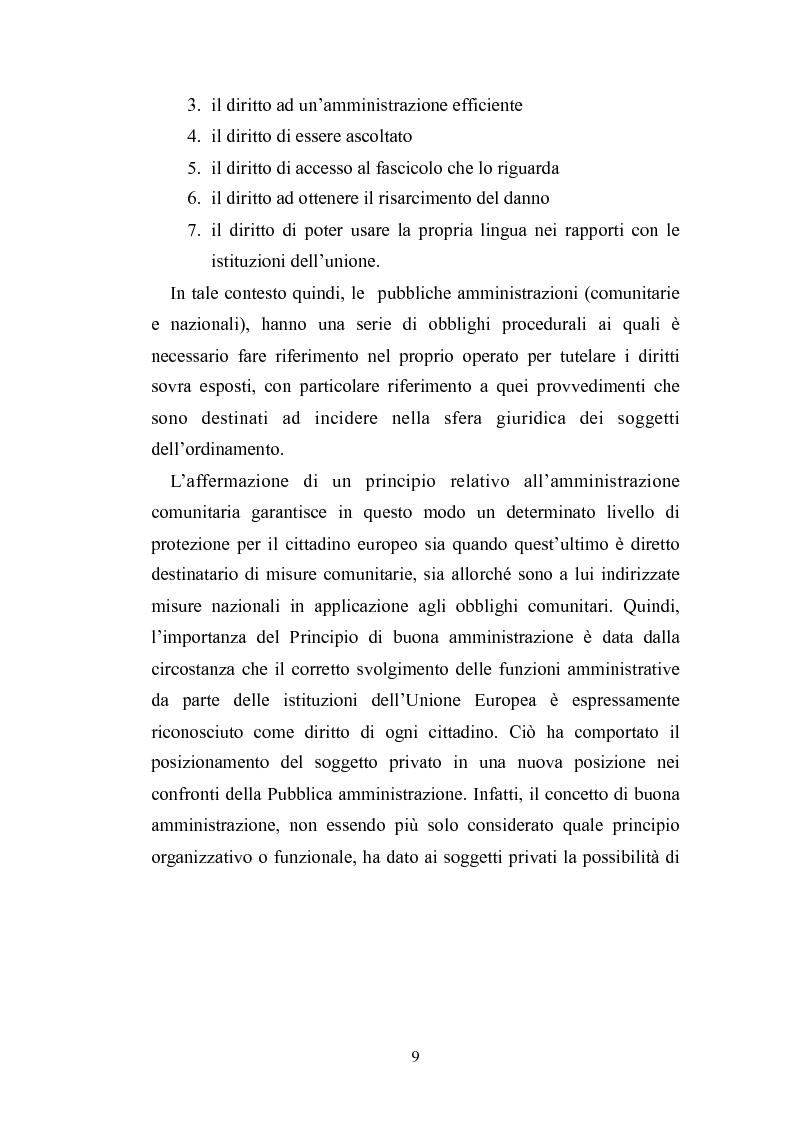 Anteprima della tesi: Il principio di buona amministrazione, Pagina 5