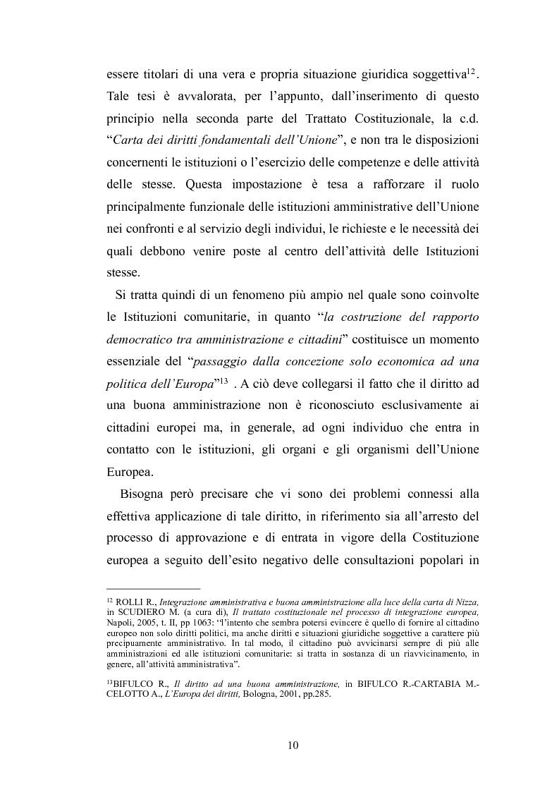 Anteprima della tesi: Il principio di buona amministrazione, Pagina 6