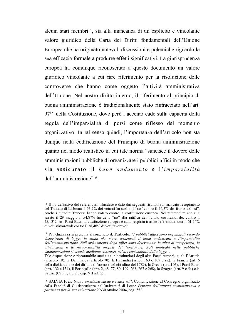 Anteprima della tesi: Il principio di buona amministrazione, Pagina 7