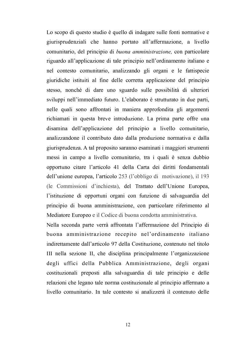 Anteprima della tesi: Il principio di buona amministrazione, Pagina 8