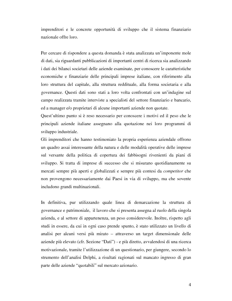 Anteprima della tesi: Le aziende italiane e la bassa propensione all'ingresso nel mercato azionario: un'indagine sulle motivazioni, Pagina 2