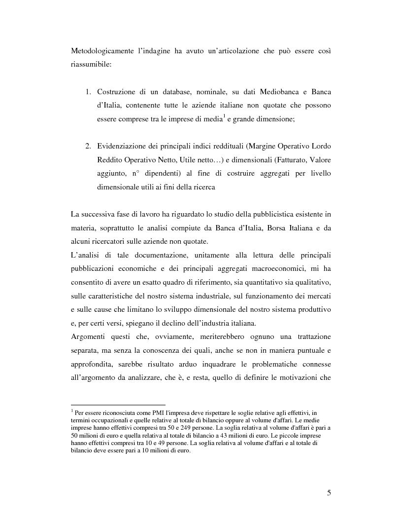 Anteprima della tesi: Le aziende italiane e la bassa propensione all'ingresso nel mercato azionario: un'indagine sulle motivazioni, Pagina 3