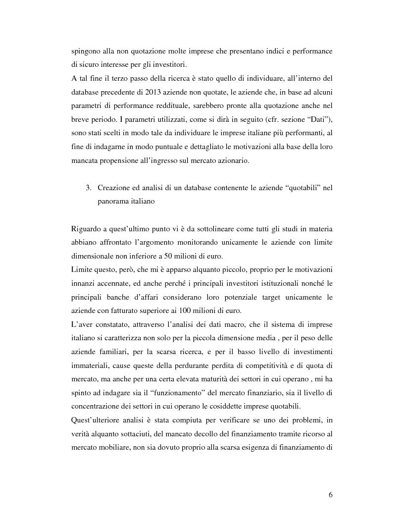 Anteprima della tesi: Le aziende italiane e la bassa propensione all'ingresso nel mercato azionario: un'indagine sulle motivazioni, Pagina 4