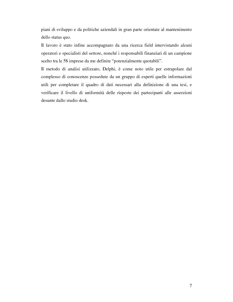 Anteprima della tesi: Le aziende italiane e la bassa propensione all'ingresso nel mercato azionario: un'indagine sulle motivazioni, Pagina 5