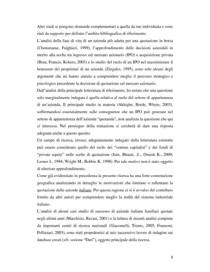 Anteprima della tesi: Le aziende italiane e la bassa propensione all'ingresso nel mercato azionario: un'indagine sulle motivazioni, Pagina 7