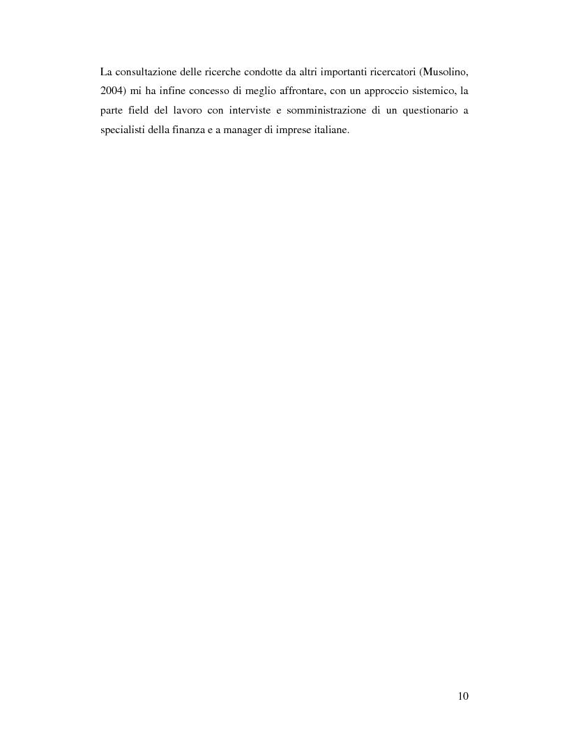 Anteprima della tesi: Le aziende italiane e la bassa propensione all'ingresso nel mercato azionario: un'indagine sulle motivazioni, Pagina 8