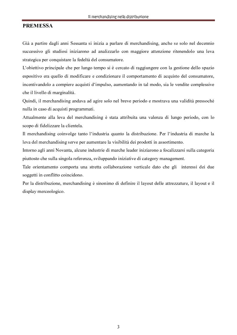 Anteprima della tesi: Le nuove dimensioni del merchandising distributivo, Pagina 1