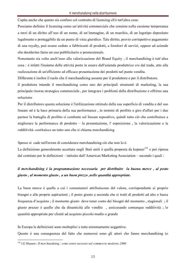 Anteprima della tesi: Le nuove dimensioni del merchandising distributivo, Pagina 11