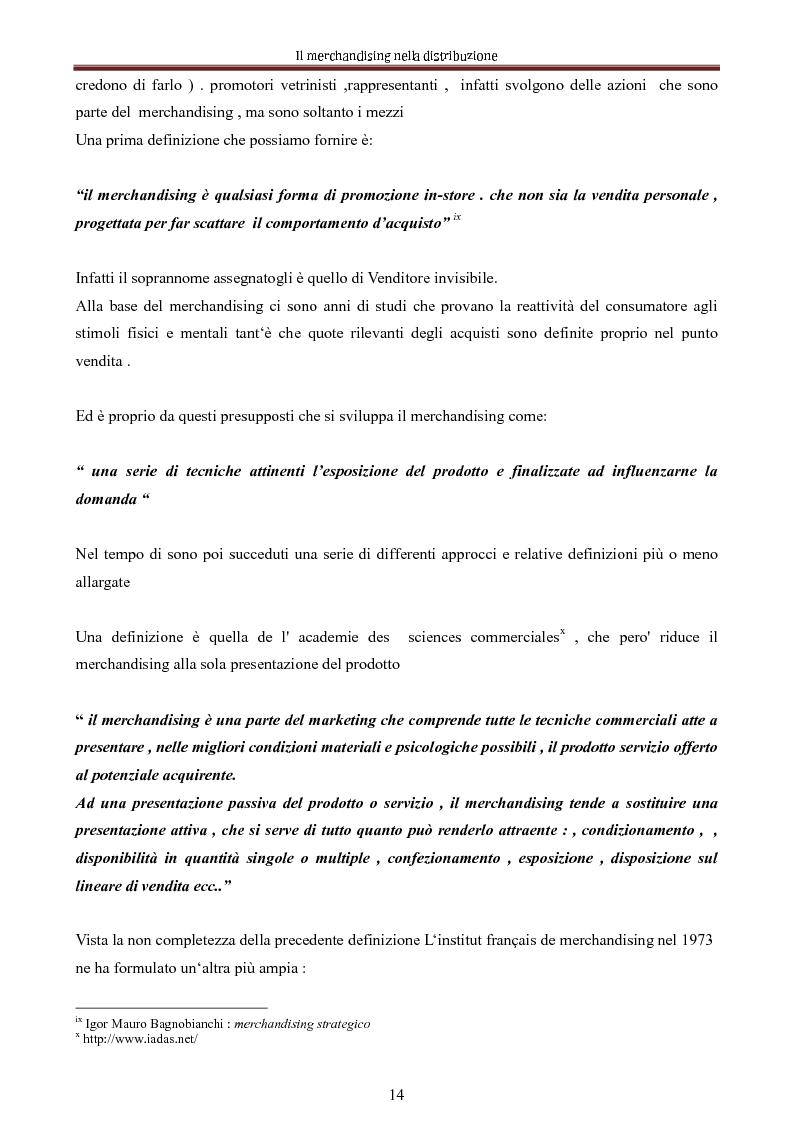 Anteprima della tesi: Le nuove dimensioni del merchandising distributivo, Pagina 12