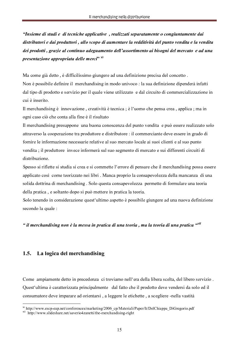Anteprima della tesi: Le nuove dimensioni del merchandising distributivo, Pagina 13