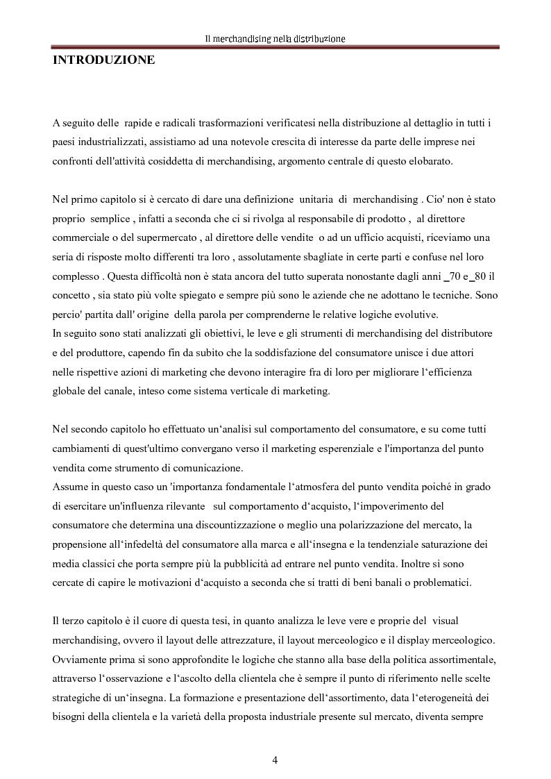 Anteprima della tesi: Le nuove dimensioni del merchandising distributivo, Pagina 2