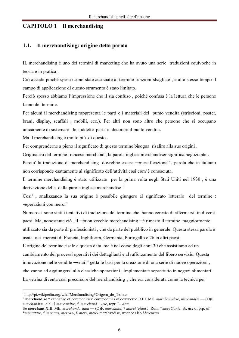 Anteprima della tesi: Le nuove dimensioni del merchandising distributivo, Pagina 4